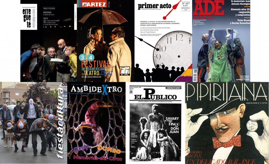 Portadas de revistas do Fondo Teatral María Casares