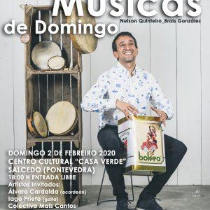 Cartel Músicas de Domingo - Nelson Quinteiro