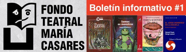 Boletín 1 Fondo Teatra María Casares