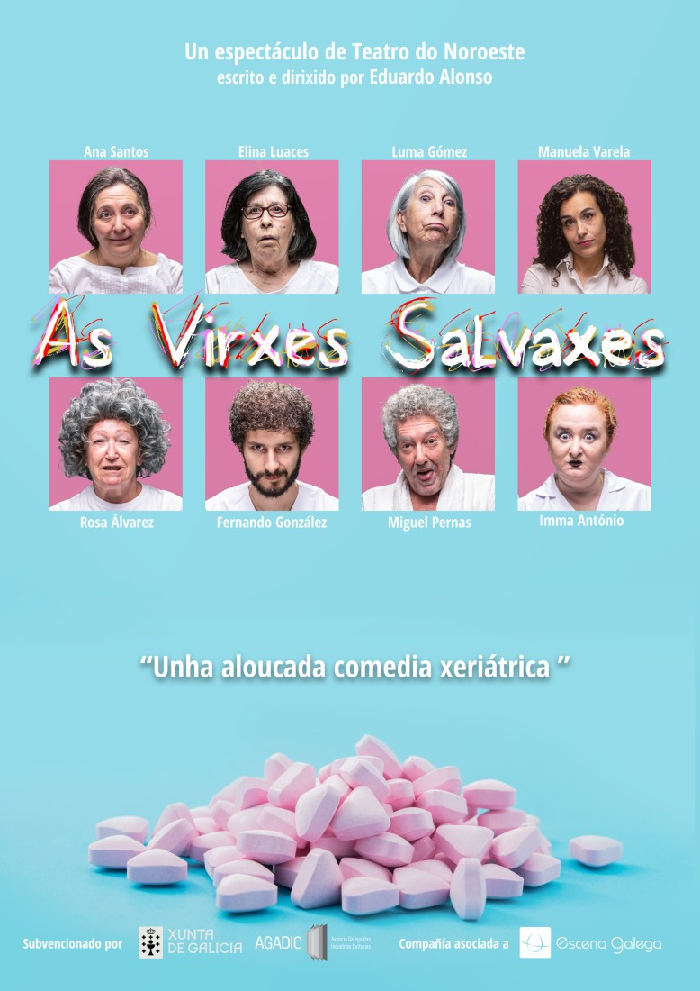 Cartel de As virxes salvaxes de Teatro do Noroeste