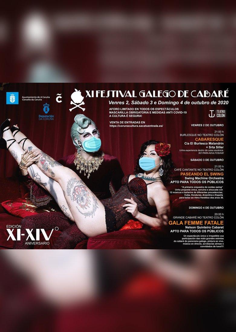Cartel do XI Festival Galego de Cabaré