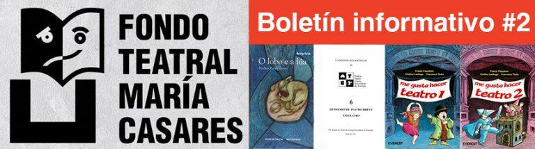 Boletín 2 Fondo Teatra María Casares