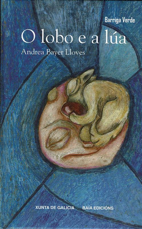 O lobo e a lúa de Andrea Bayer Lloves (ilustracións de Chus Ferrín)