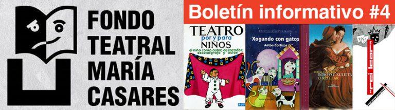Boletín 4 Fondo Teatra María Casares