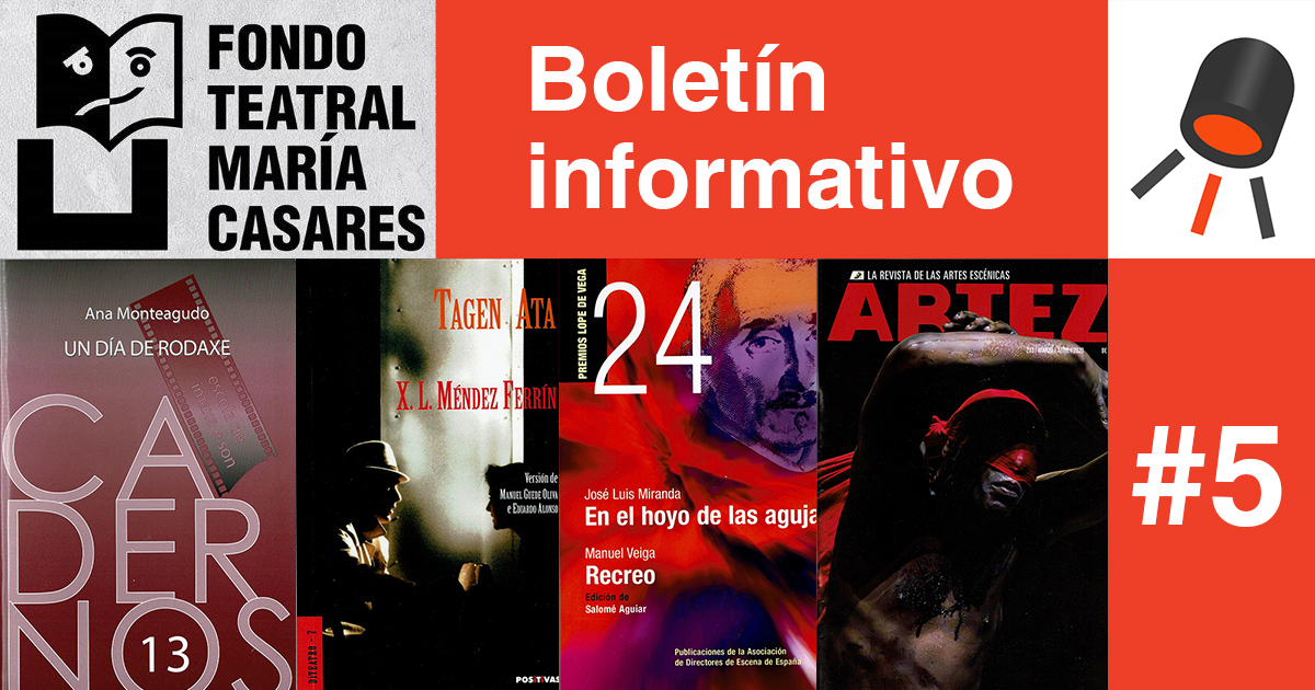 Boletín 5 Fondo Teatra María Casares