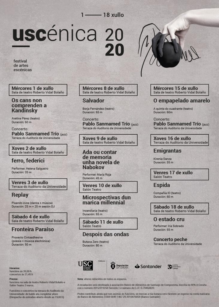 Cartel uscenica 2020 - festival de artes escénicas
