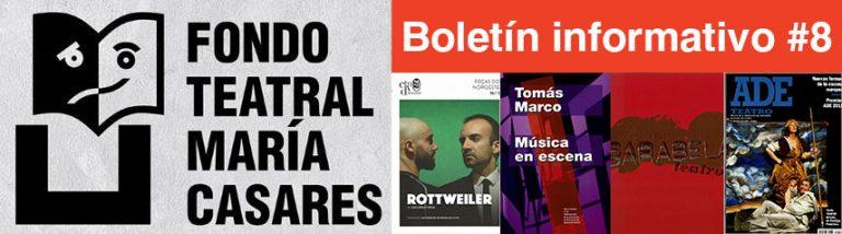Boletín 8 Fondo Teatra María Casares