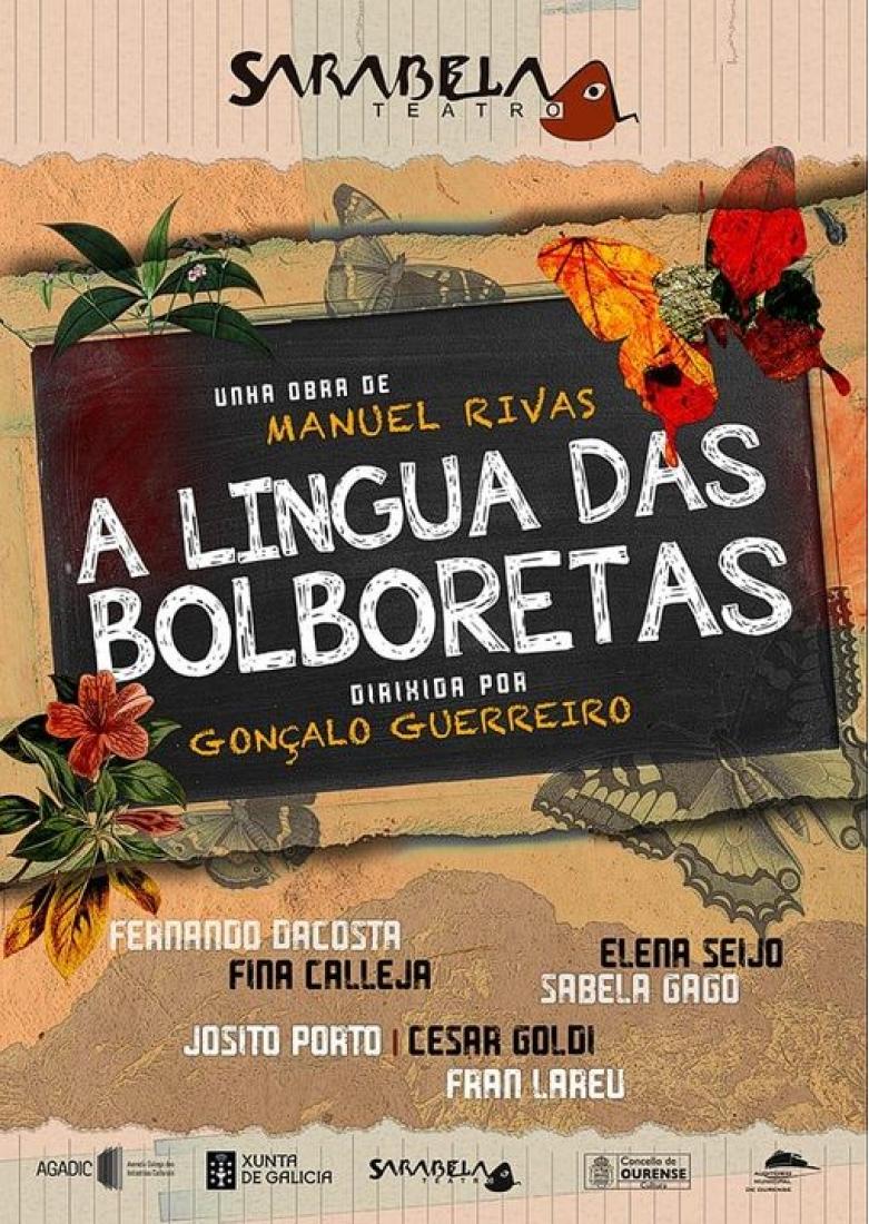 Cartel A Lingua das Bolboretas de Sarabela Teatro