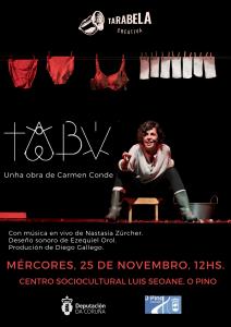 Cartel Tabú - Tarabela Creativa en O Pino
