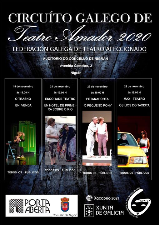 Cartel do circuito galego de teatro amador 2020 - Nigrán