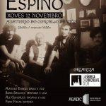 Cartel Espiño Banda ao vivo en Vigo