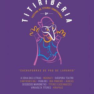 Cartel TITIRIBERIA 2020 - V Festival de Títeres Tradicionais
