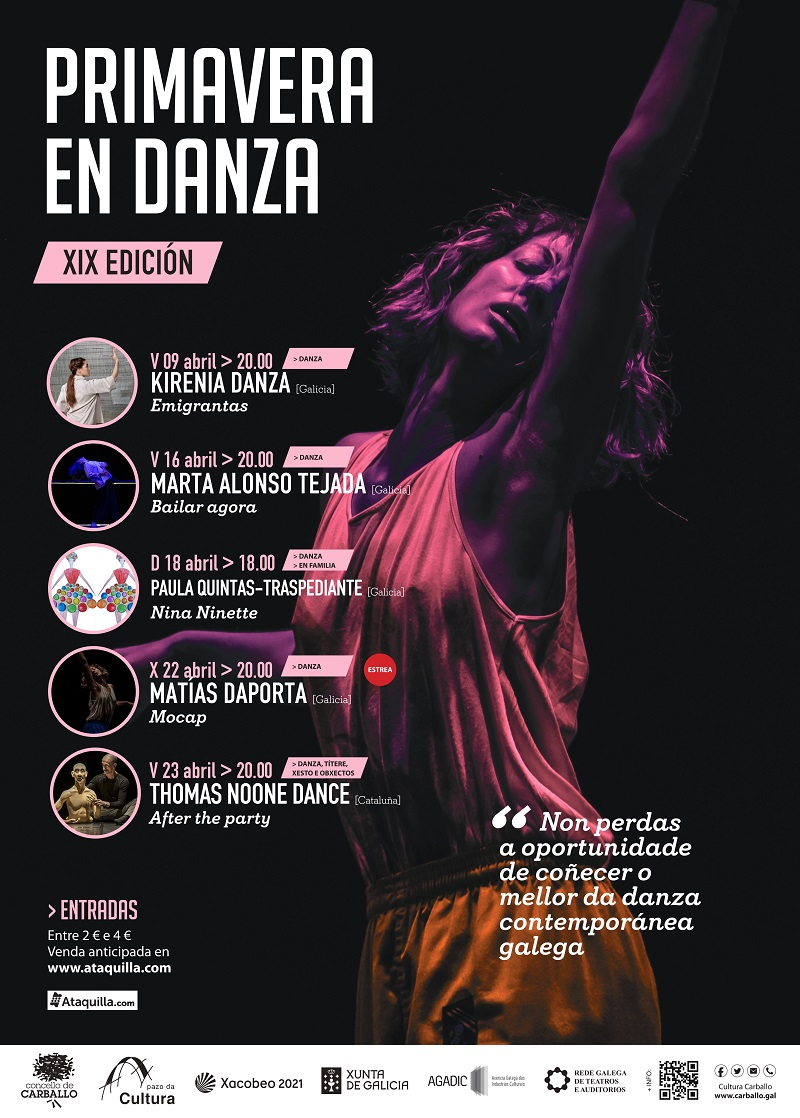 Cartel do 29 Festival Primavera en Danza de Carballo