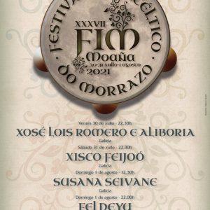 Cartel do XXXVII Festival Intercéltico do Morrazo